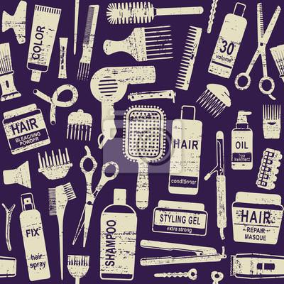 Stylizacja włosów związane wektor szwu tła 1