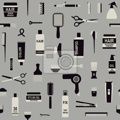 Stylizacja włosów związane wektor szwu tła 2