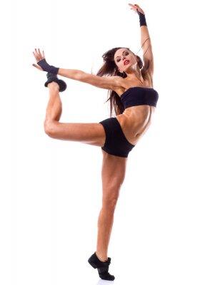 Fototapeta Stylowy i nowoczesny skoki młoda tancerka stylu