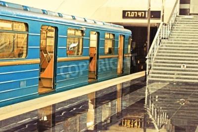 Fototapeta Subway station in Kiev underground