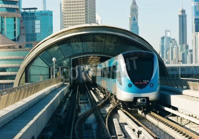 Fototapeta subway tracks in the united arab emirates