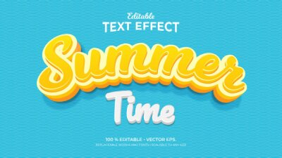 Fototapeta Summer Time 3d Style Editable Text Effects