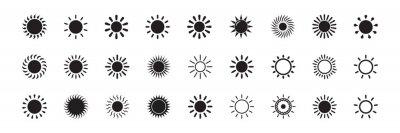 Fototapeta Sun icon vector isolated, sun symbol