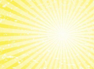 Fototapeta Sunlight retro grunge background. yellow color burst background. Vector illustration.