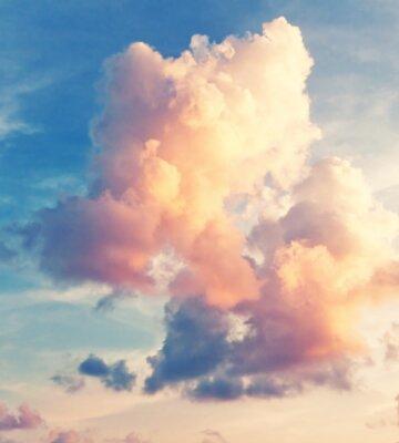 Fototapeta Sunny tle nieba w klasycznym stylu retro
