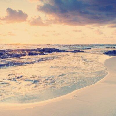 Fototapeta Sunrise Beach Instagram Style