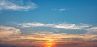 sunrise in blue sky background