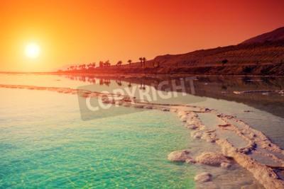 Fototapeta Sunrise nad Morze Martwe.
