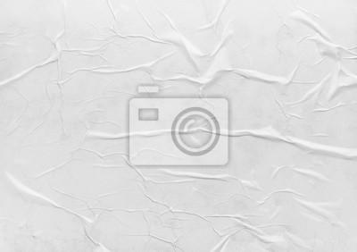 Fototapeta Surface of wet crumpled glued paper