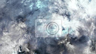 Surrealistyczne Cloudscape. Abstrakcyjna ciemne niebo z błyszczące chmury. Wzór Fantasy z efektem oświetlenia. Piękne futurystyczne tło malowania. Fraktalna grafika do kreatywnego projektowania grafic