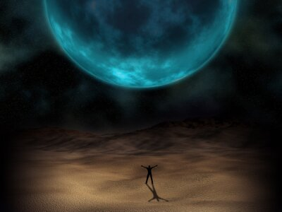 Fototapeta Surrealistyczny obraz planety