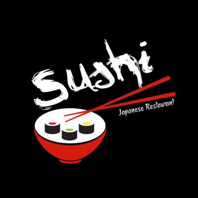 Fototapeta Sushi Japanese Restaurant szablon