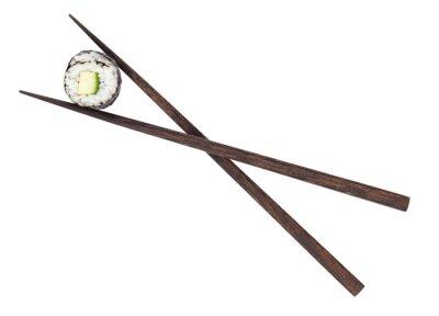 Fototapeta Sushi maki z ogórkiem w pałeczki