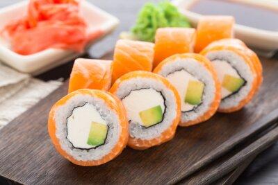 Fototapeta Sushi rolki philadelphia