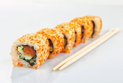 Fototapeta Sushi Roll samodzielnie