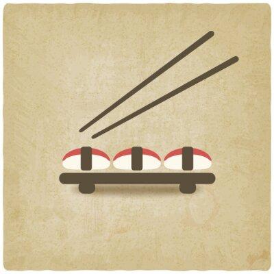 Fototapeta sushi stare tle - ilustracji wektorowych