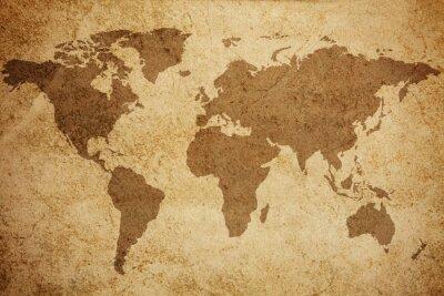 Fototapeta Świat mapa tekstury