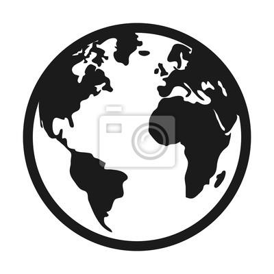 Fototapeta Świat planety Ziemi odizolowane ikony ilustracji wektorowych projektowania