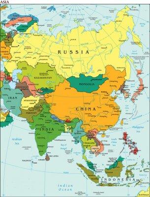 Fototapeta Świat Ziemia Kontynent Azja mapa Kraj