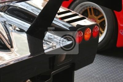 Fototapeta Światła samochodów wyścigowych