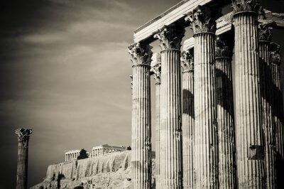 Fototapeta Świątynia Zeusa Olimpijskiego i Akropol, Ateny