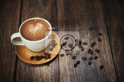 Świetny strzał z filiżanką kawy