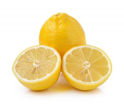Fototapeta Świeże cytryny na białym tle