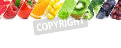 Fototapeta Świeże owoce i warzywa kolor. Zdrowe jedzenie