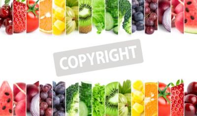 Fototapeta Świeże owoce i warzywa. Koncepcja zdrowej żywności