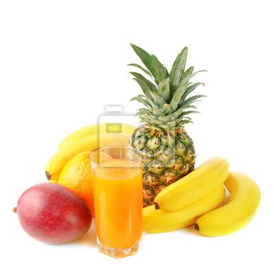 świeże owoce tropikalne i soku
