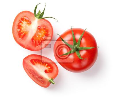 Fototapeta Świeże pomidory na białym