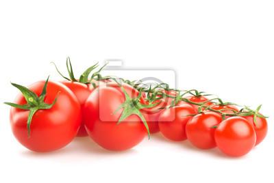 Świeże pomidory ustawić na białym tle