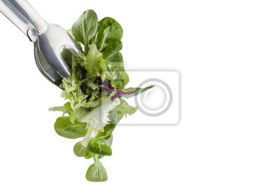 Fototapeta świeże sałatki w zacisku