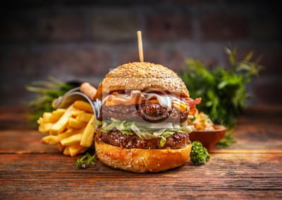 Fototapeta Świeże smaczne burger