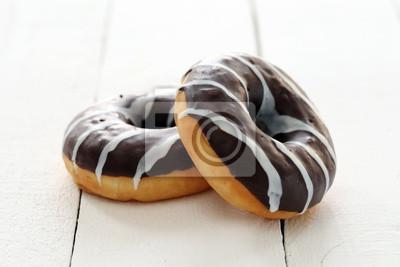 Fototapeta Świeże smaczne pączki z brązowym szkliwem