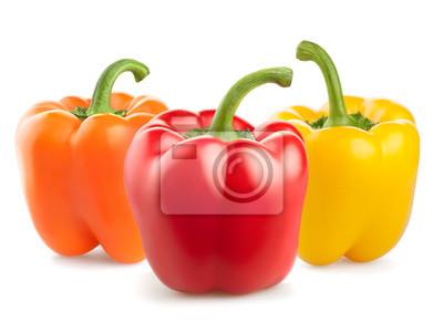 świeże warzywa papryka samodzielnie na białym tle