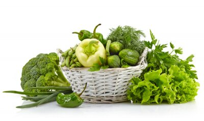 Fototapeta Świeże zielone warzywa