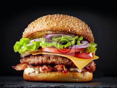 Fototapeta świeży smaczny burger