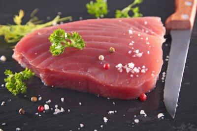 Fototapeta świeży stek z tuńczyka
