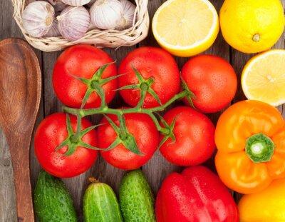 Fototapeta Świeżych dojrzałych warzyw bliska
