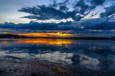 Fototapeta Świt Yellowknife