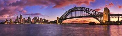 Fototapeta Sydney CBD panorama Milsons Lewy Pier
