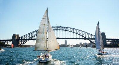 Fototapeta Sydney Harbour Bridge z łodzi, Australia