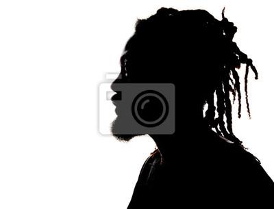 Fototapeta Sylwetka African American Man