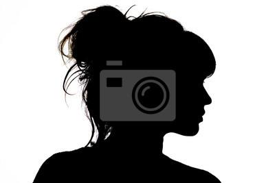 Fototapeta sylwetka pięknego profilu kobiety pojęcie piękna i mody