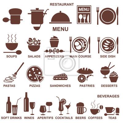 Sylwetki menu restauracji