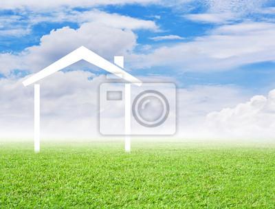 Symbol domu na trawie