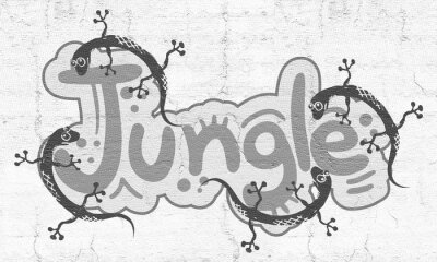 Fototapeta Symbol dżungli
