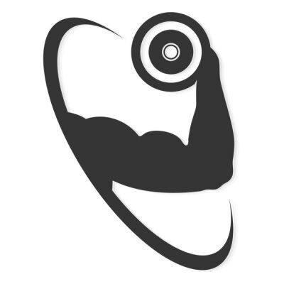 Fototapeta Symbol na siłowni, gimnastyka i wektora