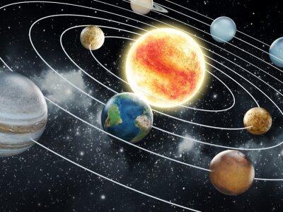 Fototapeta System solarny ilustracji